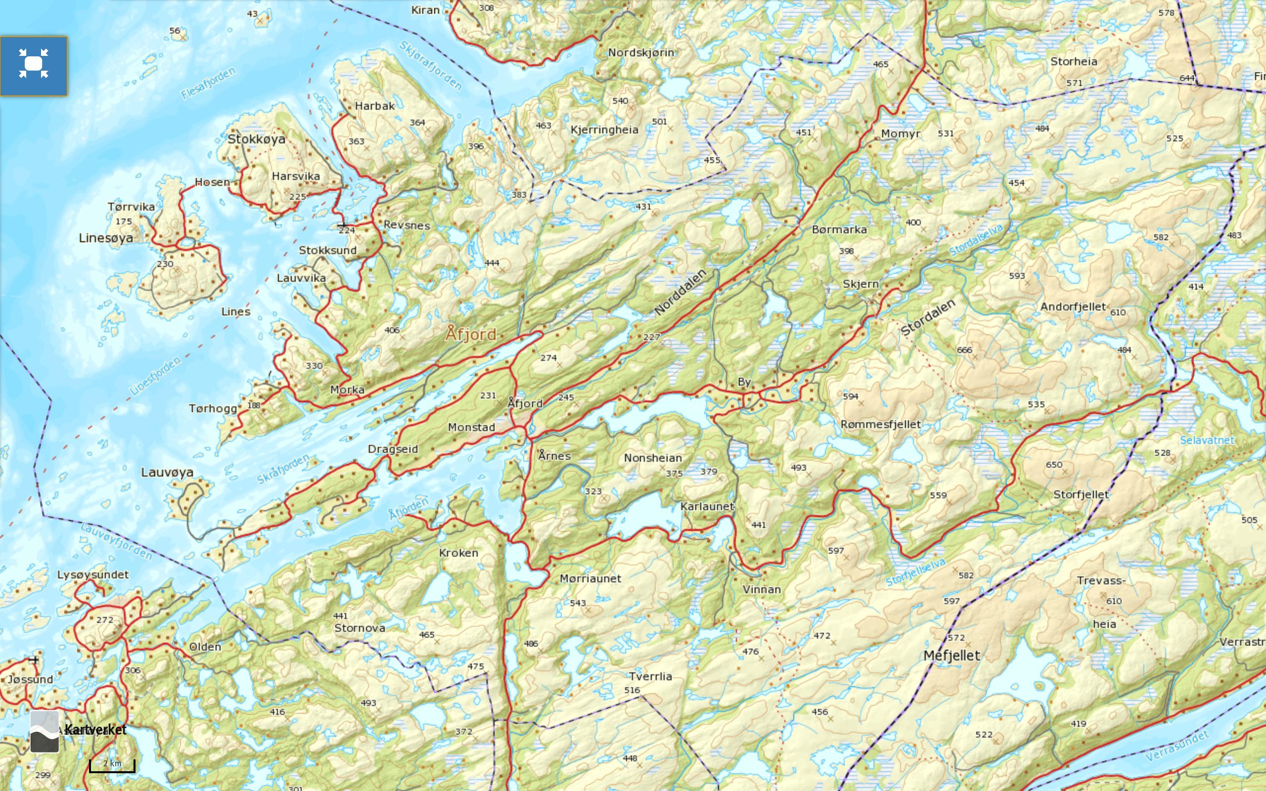 norgeskart-afjord