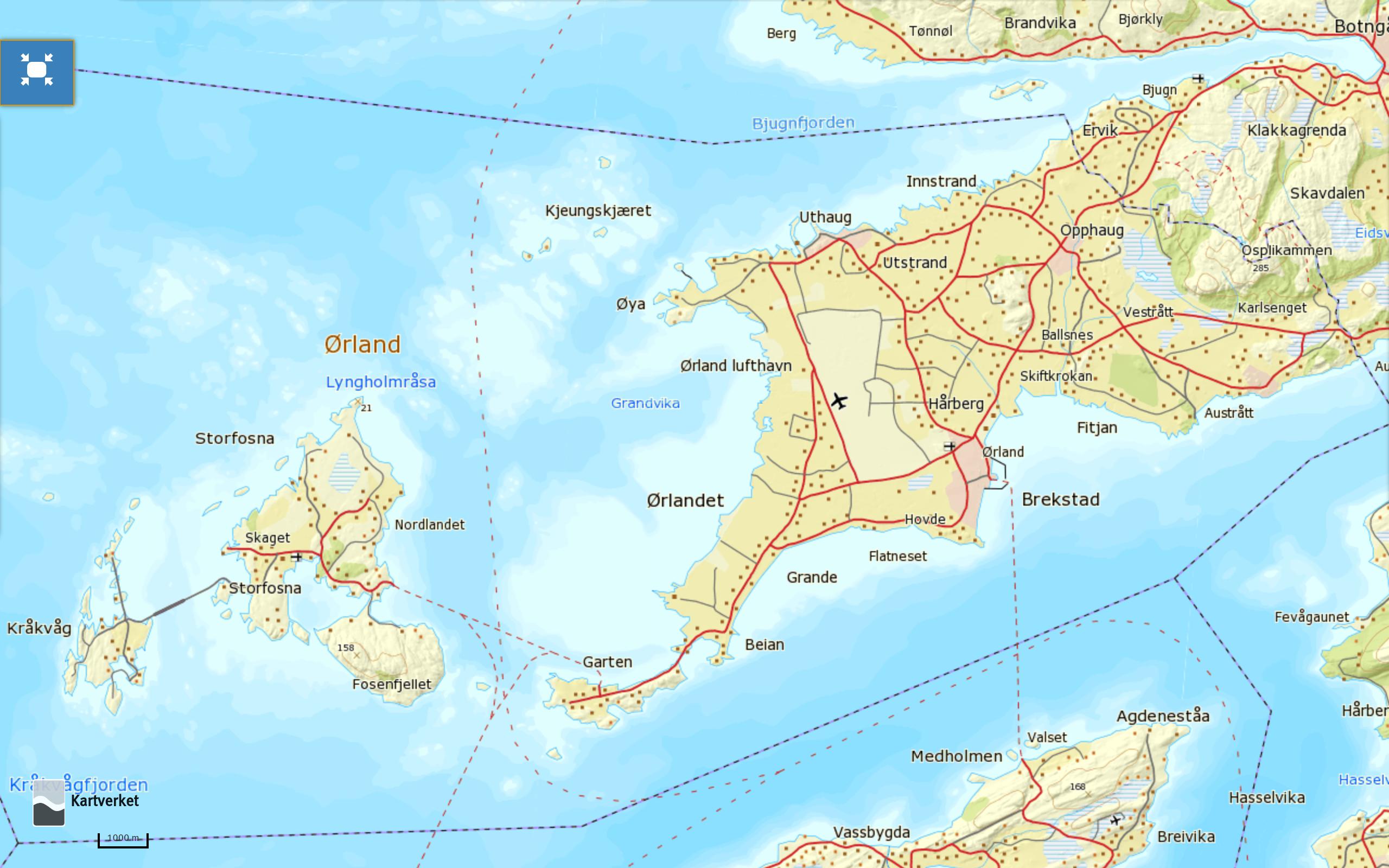 ørlandet kart Fantastiske Fosen   Reisemegleren ørlandet kart