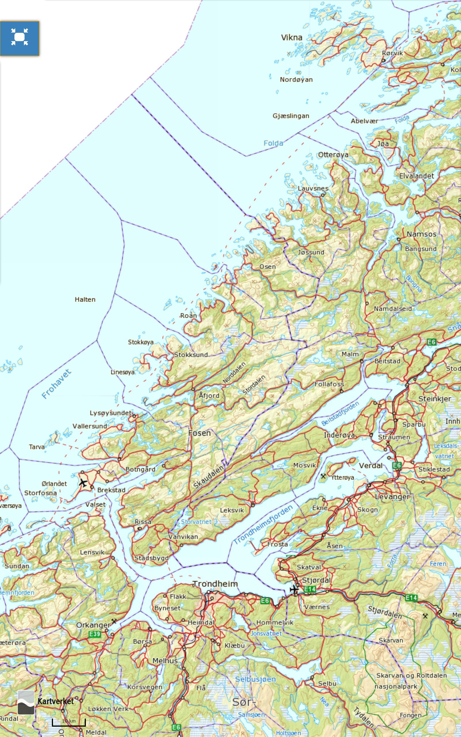 norgeskart-fosen